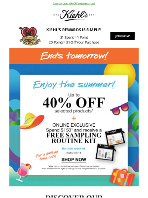 Kiehl's (CA) - Boost Your Summer Skincare Routine With These Offers ⛱️