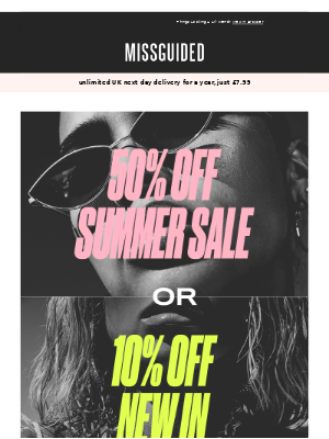50% off Summer sale 🔥