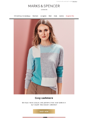 Marks and Spencer USA - Luxurious knits for chilly days