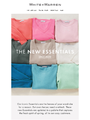 White + Warren - New In: Colorful Iconic Essentials