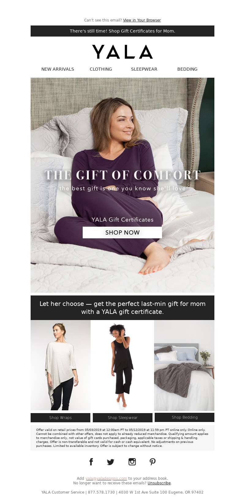 Can't see this email? View in Your Browser There's still time! Shop Gift Ce