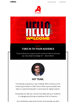 Adidas Group - Reach new audiences with podcasting