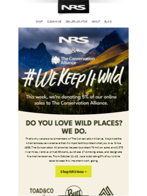 NRS - NRS + The Conservation Alliance