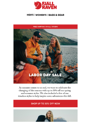 Fjällräven - Shop Up to 30% Off This Labor Day