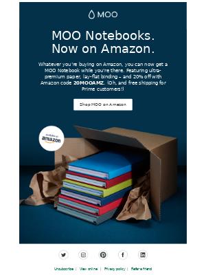 MOO Notebooks. Now on Amazon!