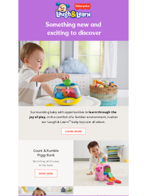 Discover new ways to help your baby learn through play