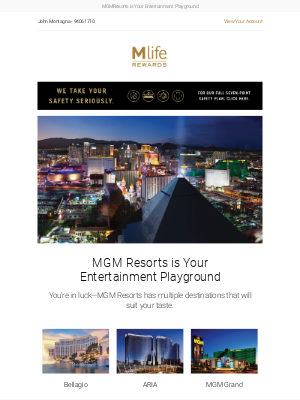 MGM Resorts is your playground.