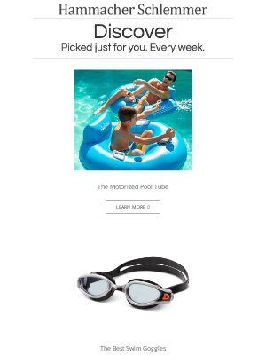 Hammacher Schlemmer - The Motorized Pool Tube and More...