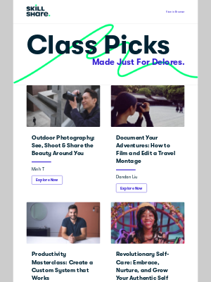 Skillshare - Delores's Personal Class Recommendations