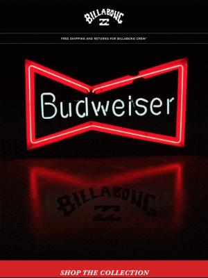 Billabong - Now On Tap: Billabong x Budweiser Neon Capsule