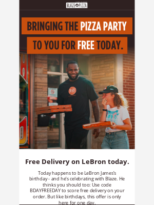 Blaze Pizza - You're Invited: LeBron James's Birthday Party