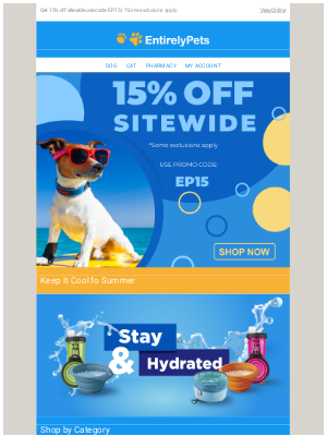🐕🔥 Get It While It's Hot: 15% off Sitewide now!