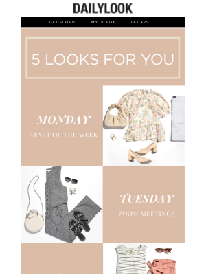 DailyLook - 5 Looks Just for You!