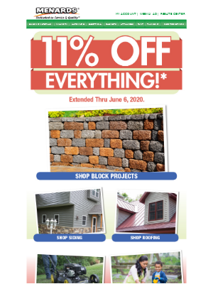 11% Off Everything* - Check Spring Projects Off Your List!