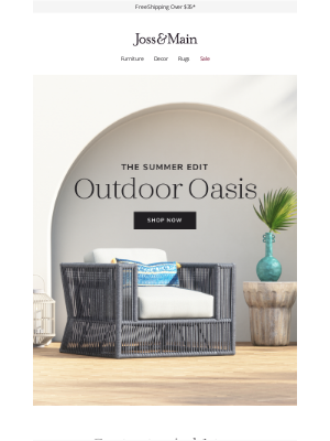 Joss & Main - Make it a backyard staycation »