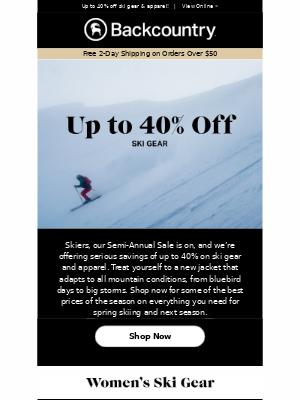 Inside: Big Savings for Skiers