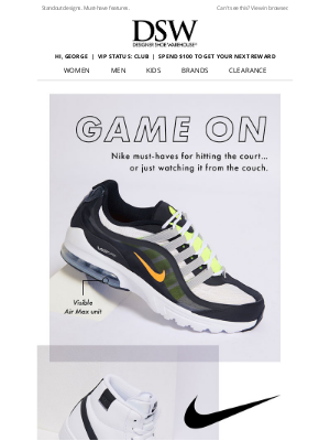 Designer Shoe Warehouse - Nike for the win.