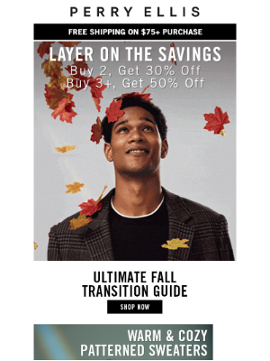 Perry Ellis - Layer on the Savings: Up to 50% Off