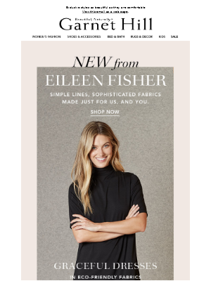 New EILEEN FISHER, only from Garnet Hill