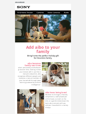 Sony - aibo Wants to Spend the Holidays With You