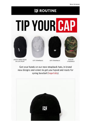 Routine Baseball - Tip Your (New) Cap