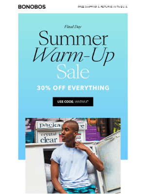 Don't Miss 30% Off Everything