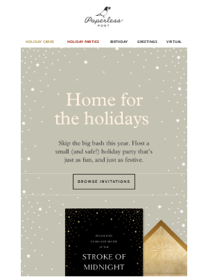 Paperless Post - How to host a micro-holiday party