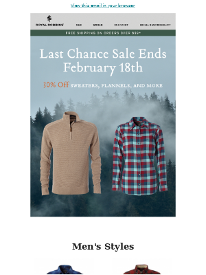 Last Chance Sale Ends February 18th