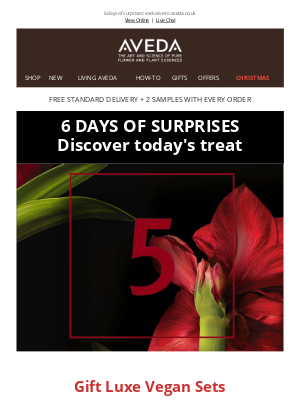 Aveda (UK) - DAY 5 is HERE! Discover today's treat
