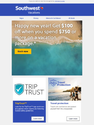 Southwest Vacations - It's a new year! How about that vacation?