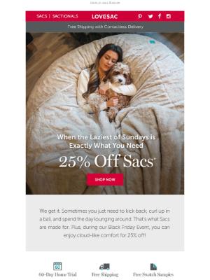 Lovesac - Sink into a cloud. ☁️☁️☁️ Save 25%!