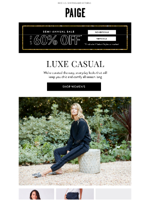 PAIGE - Your New Everyday Uniform // Up to 60% off Semi-Annual Sale Continues