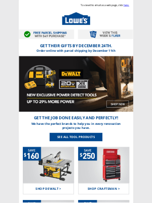 Lowes Canada - 🔨 This week: Great deals on tools & snow blowers ❄️