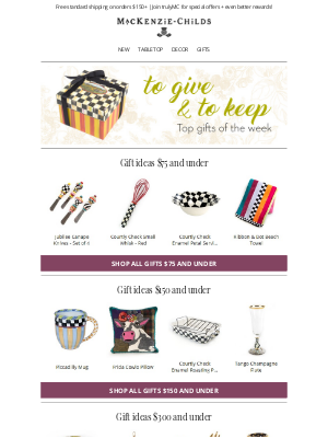 MacKenzie Childs LLC - To give + to keep: Top gifts of the week