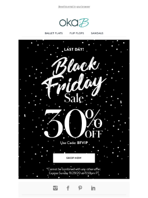 Oka-B - Last Chance! 30% off Sitewide Black Friday Access