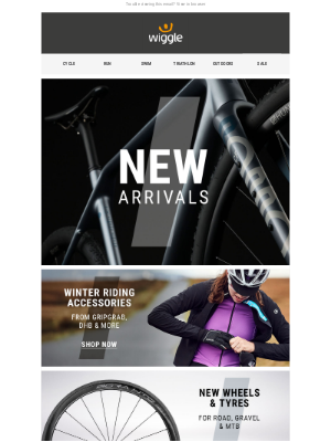 Wiggle (UK) - Incoming: NEW arrivals