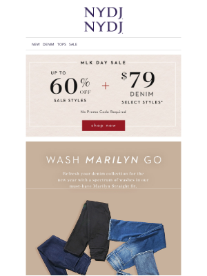 NYDJ - New Marilyn Washes + $79 Jeans