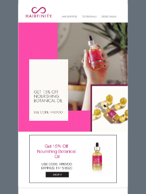 Hairfinity - Combat winter hair frizz with one simple oil