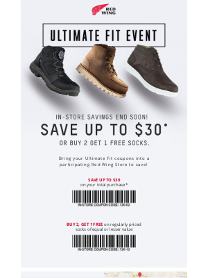 Red Wing Shoes - The Ultimate Fit Event Ends March 29th