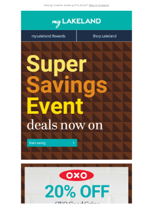Lakeland (UK) - Super Savings Event 💸