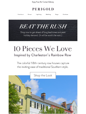 Perigold - A pink armchair & more Charleston-inspired pieces.