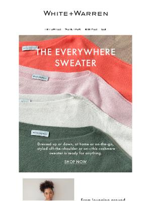 White + Warren - The Everywhere Sweater