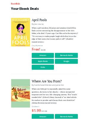 BookBub - Your ebook bargains for Sunday