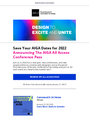 AIGA - 📆New Year, New Design Conferences
