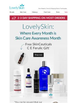 LovelySkin - Celebrate Your Best Skin With Free $22 SkinCeuticals C E Ferulic Gift