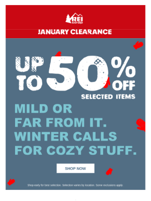 Clearance Deals: Save Up to 50%