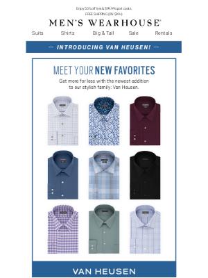 $29.99 Van Huesen dress shirts—NEW at MW!