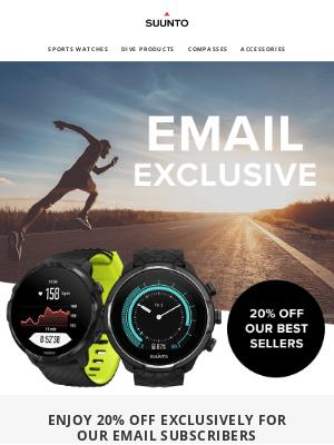 suunto - Exclusive 20% off  Suunto 7 and 9 Devices!