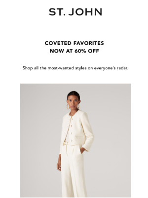 60% Off Our Most-Wanted Styles