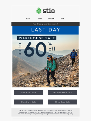 Stio - LAST DAY! Up To 60% Off Warehouse Sale